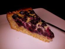 Blueberry Pie mit Vanille-Zitronen-Guss - Rezept