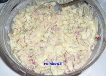 Salat: Wurstsalat mit Remouladensauce - Rezept