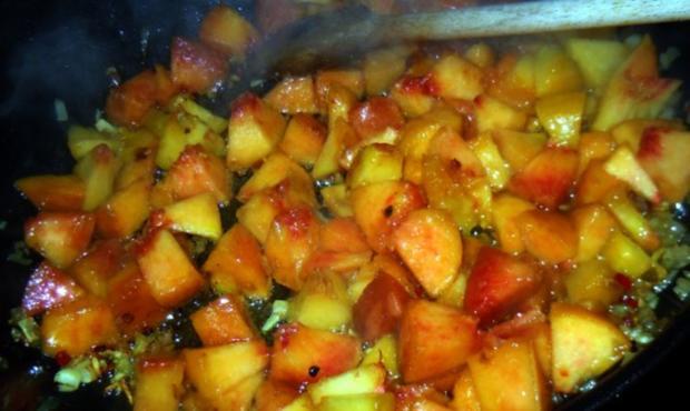 Überbackenes Curry-Pfirsich-Hähnchen - Rezept - Bild Nr. 4