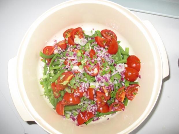Bohnen-Tomaten-Salat - Rezept - Bild Nr. 4
