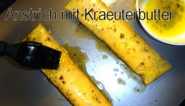 Kraeuter-Mager-Frischkaese in Brick auf Granatapfel-Fenchelsalat und Speck-Croutons - Rezept - Bild Nr. 4