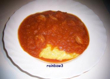 Kochen: Würstchen in scharfer roter Möhrensauce - Rezept