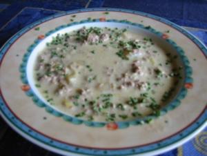 Porree - Gehacktes - Suppe - Rezept