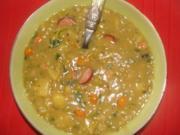 Suppe : - Meine Erbsensuppe - - Rezept