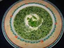 Spinat - Käse - Suppe - Rezept