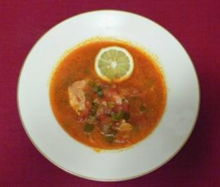 Rezept: Rote Fischsuppe