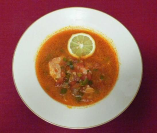 Rote Fischsuppe - Rezept