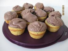 Weiße Schokoladen - Cupcakes mit Kakao - Baiserhaube - Rezept