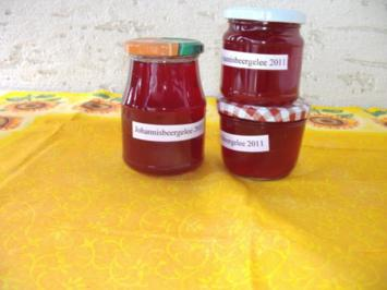 einmachen / Gelee: Johannisbeergelee mit Holunderblütensirup - Rezept
