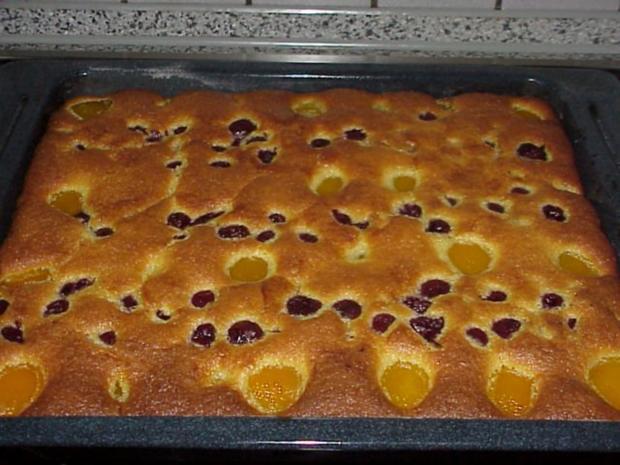 Aprikosen-Kirsch-Kuchen - Rezept - Bild Nr. 2