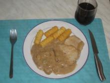 Minutensteaks mit Zwiebelsoße & Kroketten - Rezept