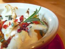 Aprikosen mit Ziegenkäse überbacken - Rezept