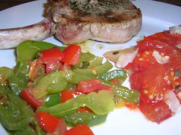 Tomaten-Tarte-Tartin mit Iberico Koteletts - Rezept - Bild Nr. 4