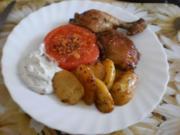 Hähnchenkeulen mit Rosmarin-Kartoffeln - Rezept