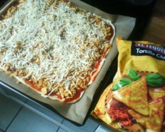 Amerikanische Nacho Pizza - Rezept