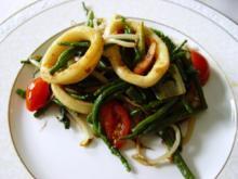 Gourmet–Wok mit Tintenfisch - Rezept