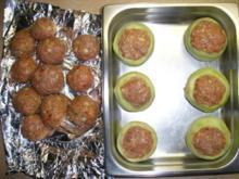 Kohlrabi gefüllt mit Hachfleisch und  Kochschinken Käse Haube...Salzkartoffeln u.Soße... - Rezept