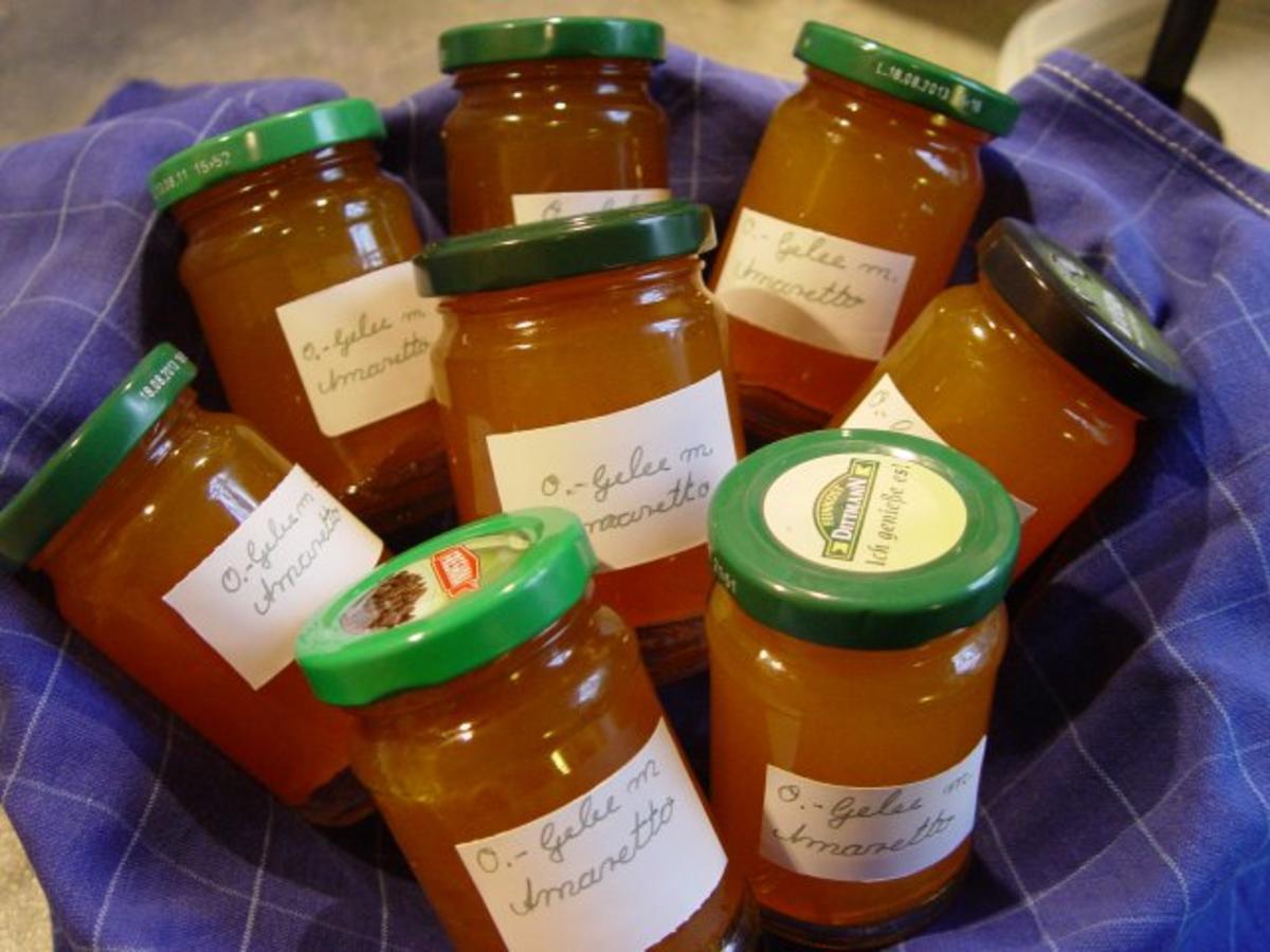 Orangen–Gelee mit Amaretto - Rezept Von Einsendungen dactylus
