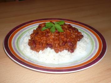 Rezept: Chili con Carne auf Reis