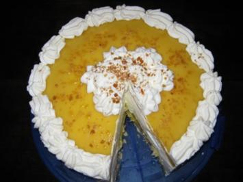 Mango-Sauerrahm-Joghurt-Torte - Rezept
