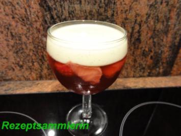 Dessert:   ERDBEER-WEIN-GELEE - Rezept