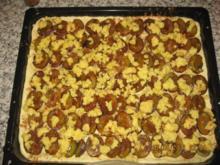 Pflaumenkuchen mit Zimt und Kokosstreusel (LECKER) - Rezept