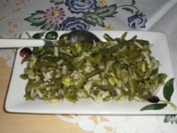 Bohnensalat mit Schafskäse - Rezept