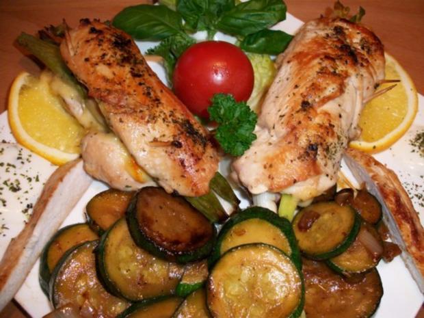 Hähnchenbrustfilet gefüllt.     Zucchinigemüse mal anders..... - Rezept - Bild Nr. 5
