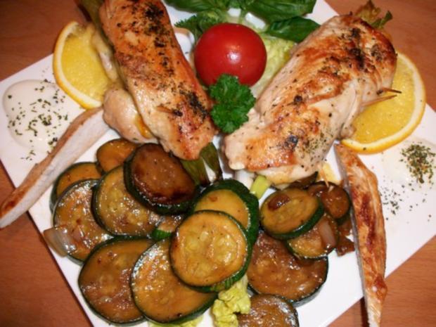 Hähnchenbrustfilet gefüllt.     Zucchinigemüse mal anders..... - Rezept - Bild Nr. 7