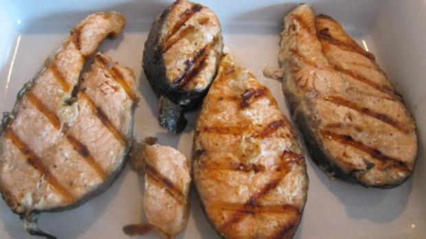 Lachskotelett mit 80 Grad und Knoblauchsauce - Rezept - Bild Nr. 2