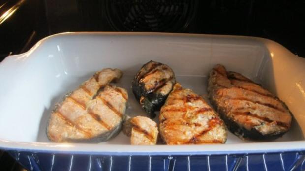 Lachskotelett mit 80 Grad und Knoblauchsauce - Rezept - Bild Nr. 4