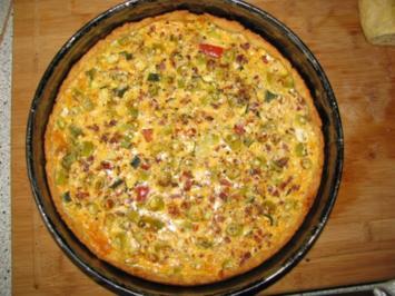 pikante Backwaren: Zucchini-Tomaten-Quiche - Rezept