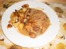 Jägerschnitzel-Auflauf mit Röstkartoffeln - Rezept