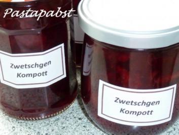 Zwetschgen Kompott - Rezept