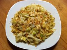 Bandnudeln mit Zucchini-Gorgonzola-Sauce - Rezept