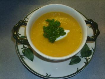 Möhren-Ingwer-Suppe - Rezept