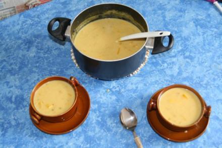 Goldene Kartoffelsuppe - Rezept