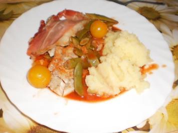 Fischfilet auf Tomaten-Gemüse - Rezept