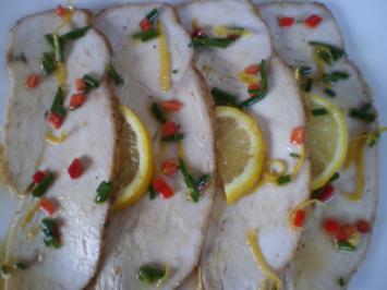 Putenbrust mariniert mit Zitrone - Rezept