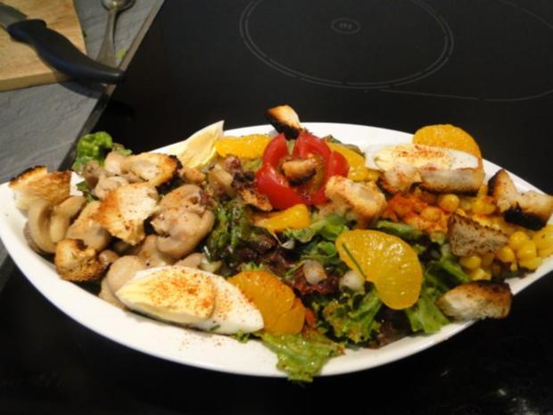 Erfrischende Salat mit Lollo Bianco und Rosso Marke Eigenbau und - Rezept