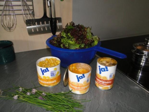 Erfrischende Salat mit Lollo Bianco und Rosso Marke Eigenbau und - Rezept - Bild Nr. 2