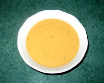 Dip/Sauce - Pikante Gemüse-Sahne-Sauce - Rezept