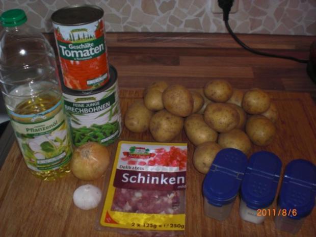 Kartoffeln - Bohnen und Speck........Pfanne. - Rezept