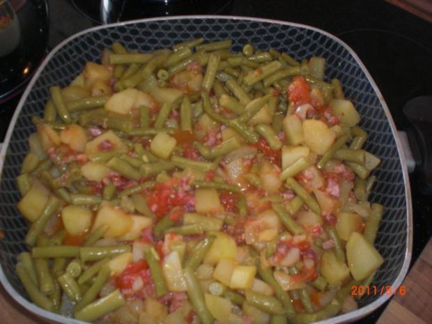 Kartoffeln - Bohnen und Speck........Pfanne. - Rezept - Bild Nr. 3
