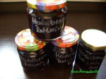 Rezept: Konfitüre & Co: Heidelbeer-Rotwein mit Vanille