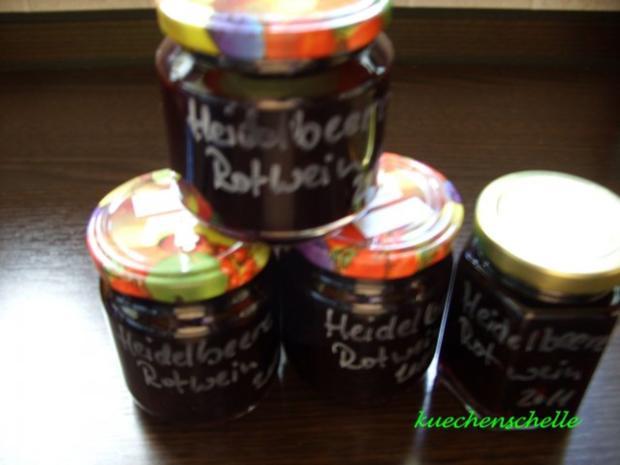 Konfitüre & Co: Heidelbeer-Rotwein mit Vanille - Rezept
