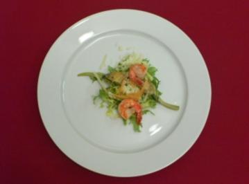 Rezept: Insalata di carciofi mit Gamberi und Parmesan