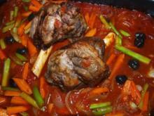Lammhaxen mallorquinisch           (Jarrete de cordero estil mallorqui) - Rezept