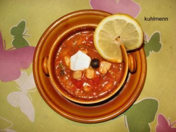 Rezept: Soljanka mit Meeresfrüchten