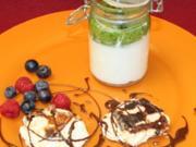Luftige Mini-Pfannkuchen  mit Rosinen - Rezept